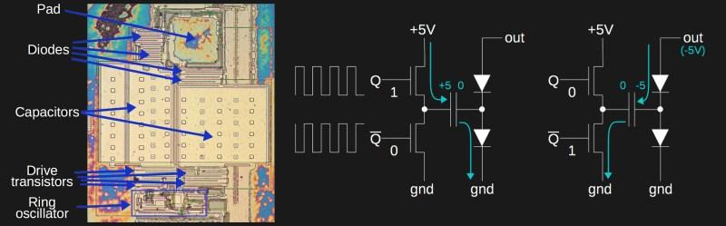 8087's -5V bias charge pump circuit