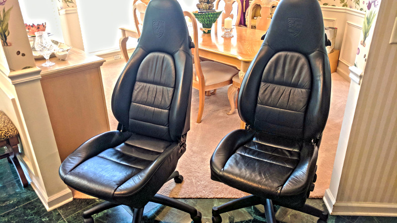 Amazing Toil In Style With Salvaged Porsche Office Chairs Hackaday Machost Co Dining Chair Design Ideas Machostcouk