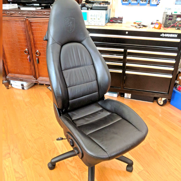 Miraculous Toil In Style With Salvaged Porsche Office Chairs Hackaday Machost Co Dining Chair Design Ideas Machostcouk