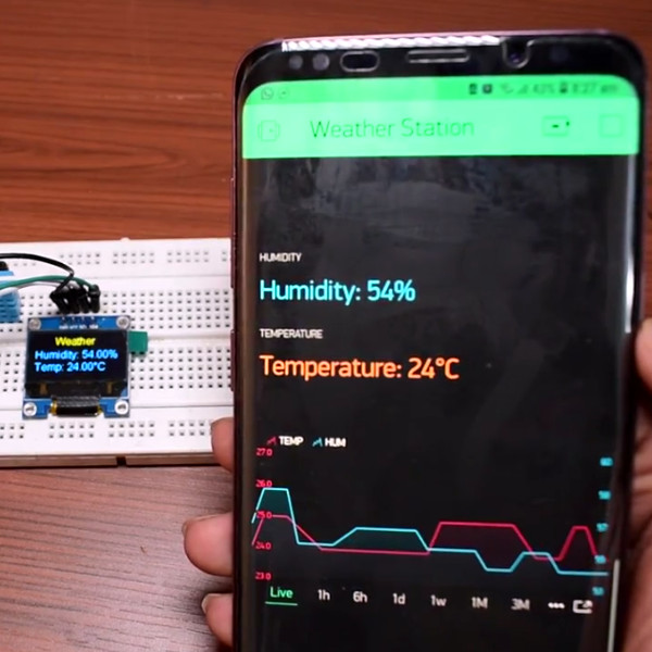 Simple ESP8266 Weather Station Using Blynk | Hackaday