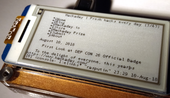 Run A Linux Terminal On Cheap E-Ink Displays | Hackaday