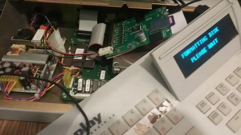 SCCSI2SD card in a sound board