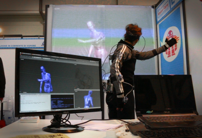 Chordata motion capture dancer and Blender