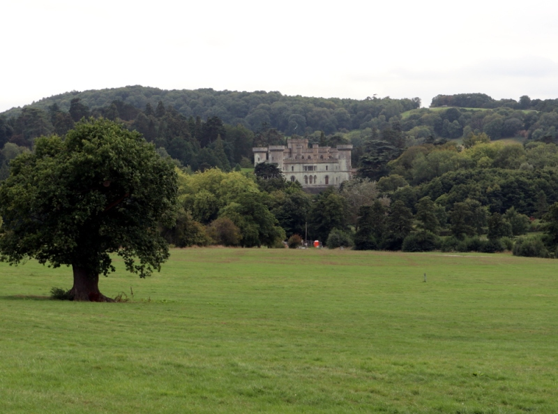 Eastnor Castle itself, viewed from the deer park.