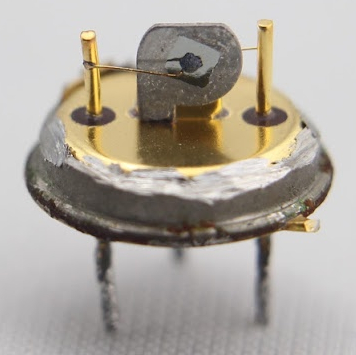 Broken germanium transistor