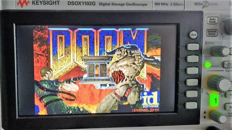 Playing Doom On Keysight Oscilloscope Via Windows CE | Hackaday