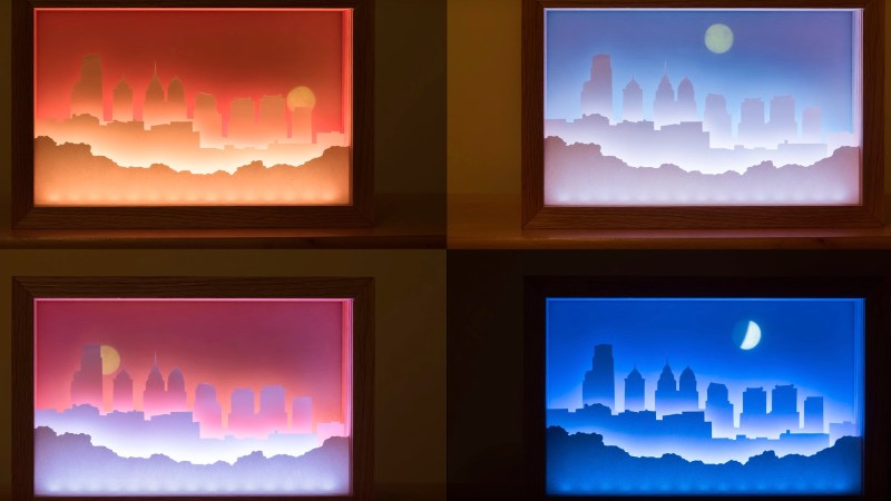 Decorative Light Box Lets You Guess The Time