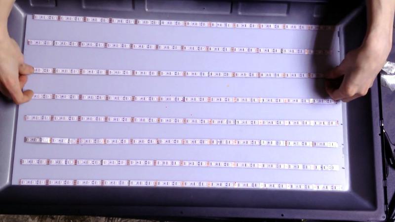 Trashed TV Gets RGB LED Backlight | Hackaday