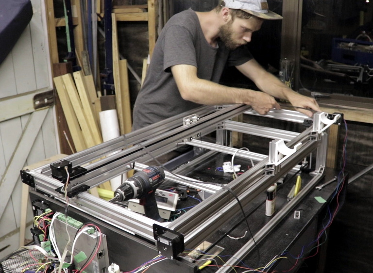 Scratch-Building A Supersized Laser Cutter | Hackaday