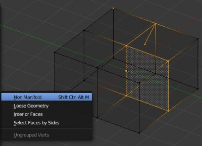 Non-manifold geometry in Blender