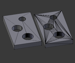 N-gons to triangles in Blender