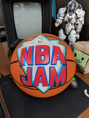 The Original NBA Jam Ball from the Title Screen