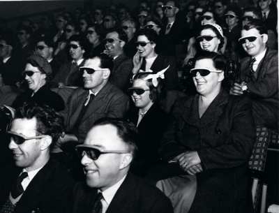 Festival Of Britain visitors watch a 3D presentation in 1951. The National Archives UK [OGL]