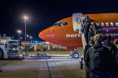 Gatwick by night, on an evening far less inclement than last week. News Oresund [CC BY 2.0].