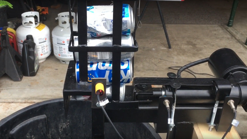 A Fully Automatic Electric Can Crusher Hackaday