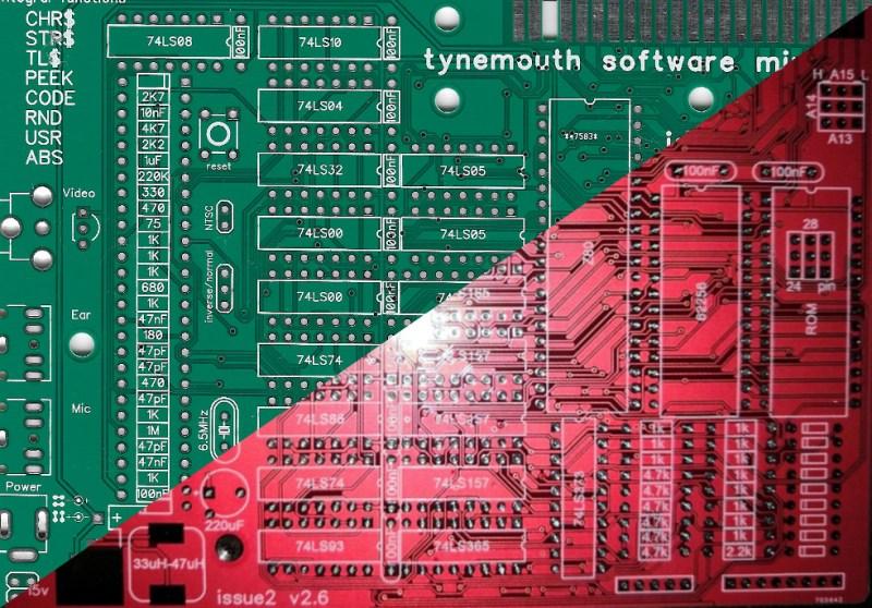 Original Minstrel ZX80 (Green) versus bootleg Minstrel ZX80 (Red)