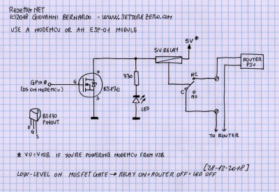 A very simple schematic for the resetter.