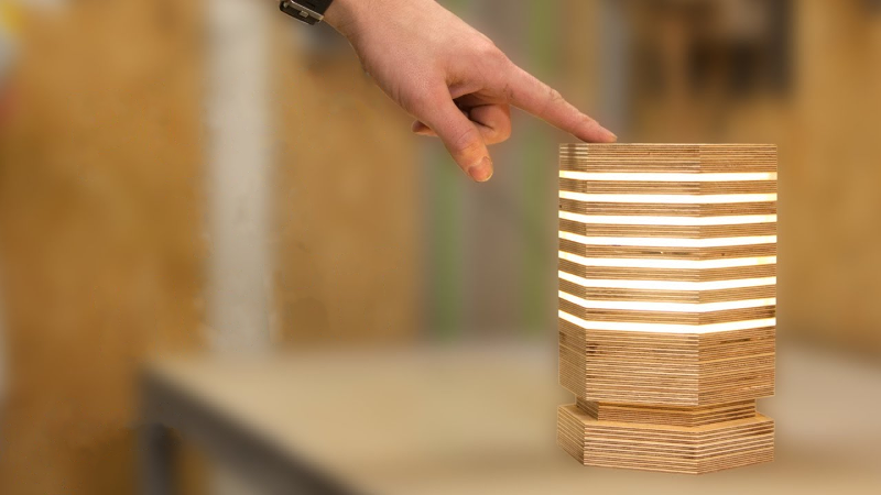 Hexagonal Lamp Is A Stylish Application Of Plywood