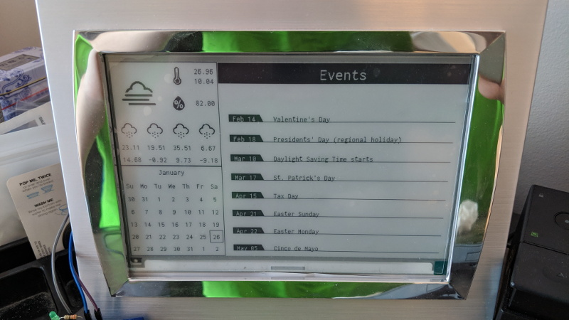 Get Organized With This Raspberry Pi E-Ink Calendar | Hackaday