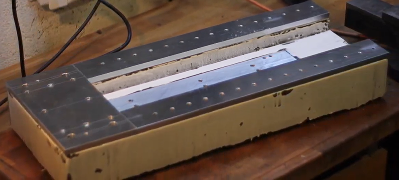 Casting The Bed Of A CNC Machine In Granite   Hackaday