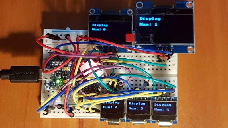 Multiple OLEDs? Save Pins By Sharing The I2C Clock   Hackaday