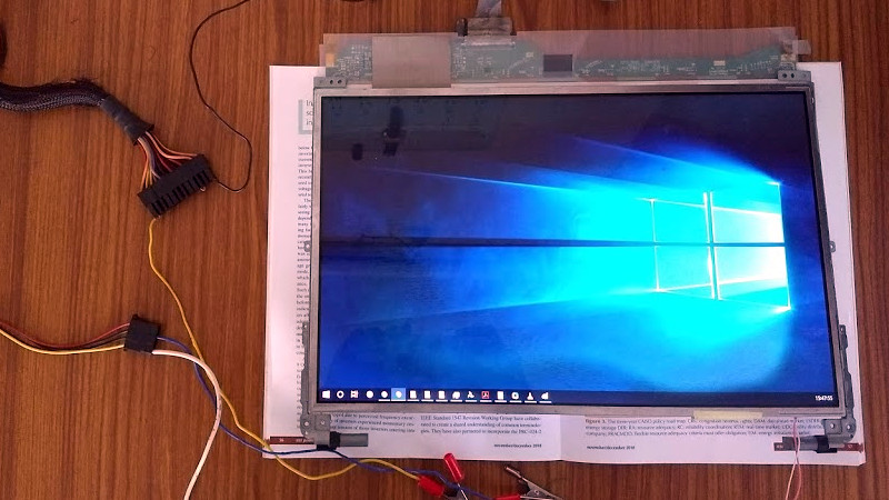 an hdmi input for a laptop screen minus laptop hackaday an hdmi input for a laptop screen