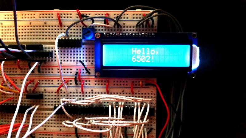 A Nearly Practical 6502 Breadboard Computer   Hackaday