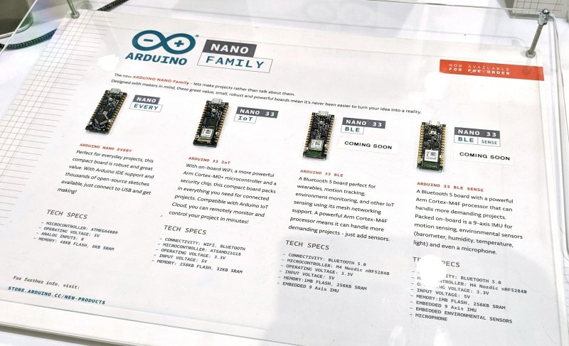 New Arduino Nano Line Rolls Out In Four Flavors At Maker