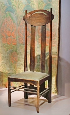 A Charles Rennie Macintosh chair from the turn of the 20th century in the Musée d'Orsay in Paris. Jean-Pierre Dalbéra (CC BY 2.0)