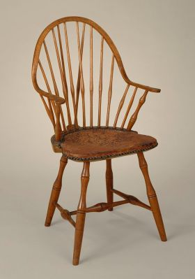 An American-made Windsor chair from the turn of the 19th century. Los Angeles County Museum of Art [Public domain]
