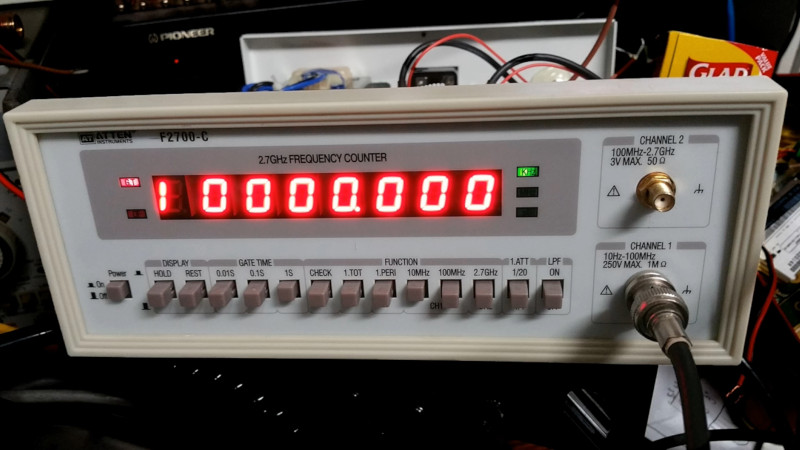 Improving A Cheap Frequency Counter With GPS