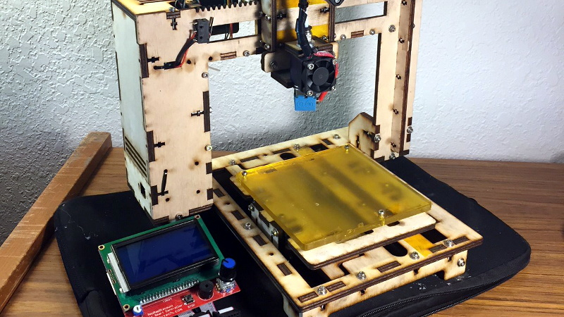 Go Back in Time with a Laser Cut Wood 3D Printer Kit thumbnail