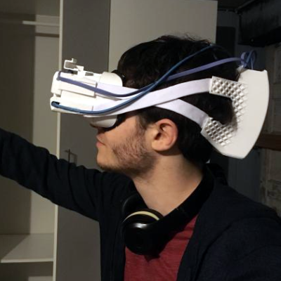 3b42675e An early prototype of the open source Atmos Extended Reality headset.