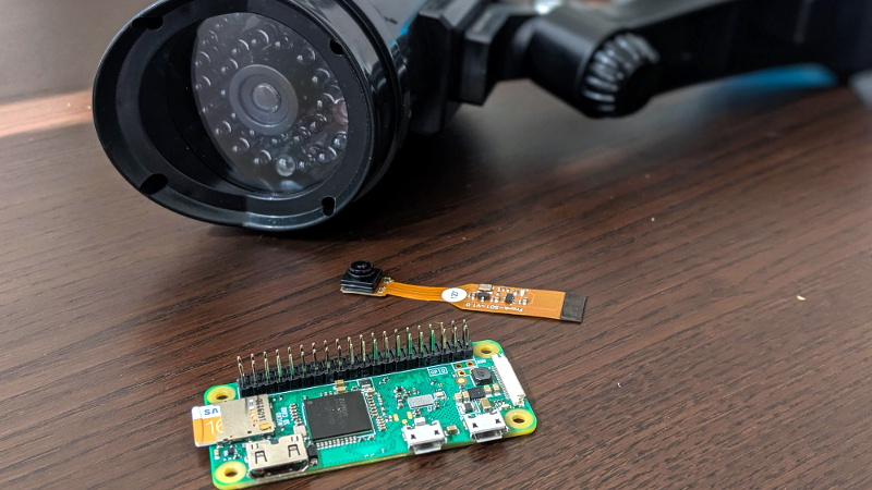 "Pi Zero Streams Video From ""Fake"" Security Camera 