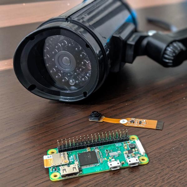 "Pi Zero Streams Video From ""Fake"" Security Camera | Hackaday"