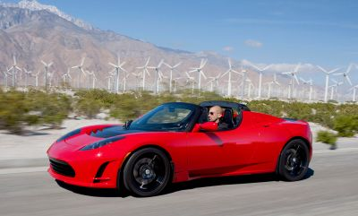 So good they dumped one in space: the 2008 Tesla Roadster. Tesla Motors Inc. [Copyrighted free use]