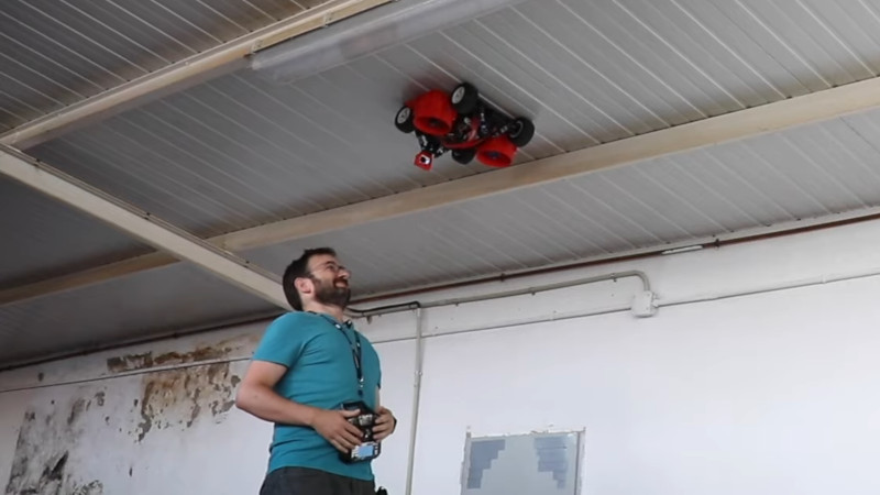 Driving A Big Rc Car On The Ceiling Hackaday