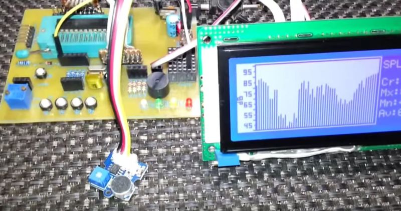 Make Your Own SPL DB Meter With A Microphone And MCU   Hackaday