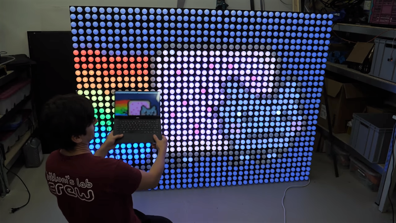 Giant LED Display Is 1200 Balls To The Wall | Hackaday