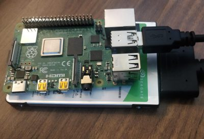 Raspberry Pi 4 with Hard Drive