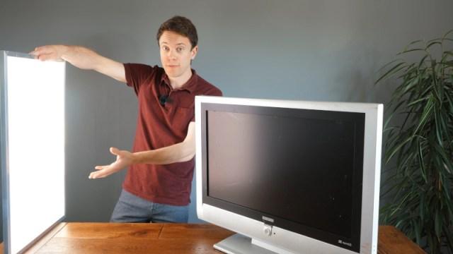Great Artificial Daylight Via Broken TVs