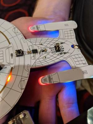 Enterprise badge FR4 diffuser detail