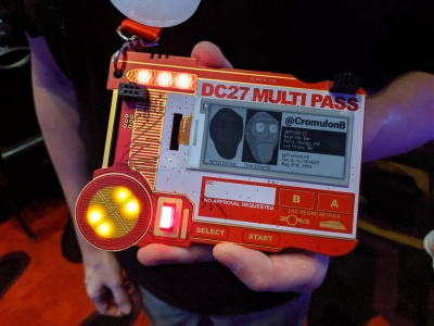 DC27 Mooltipass badge - front