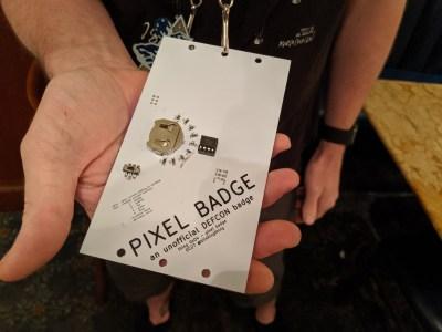 Pixel badge at DC27 - rear