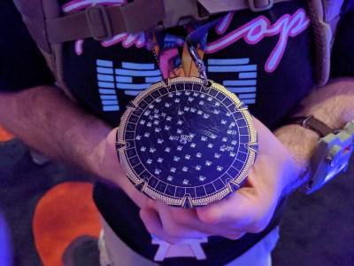 Stargate badge at DC27 - front