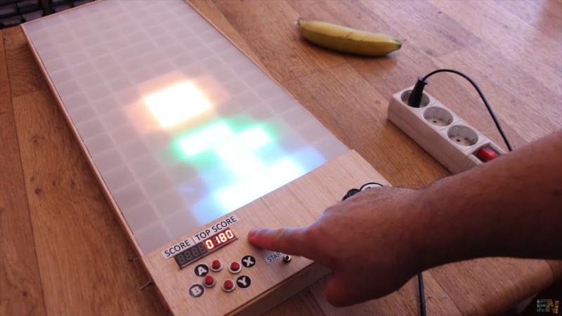 Big And Glowy Tetris Via Arduino | Hackaday