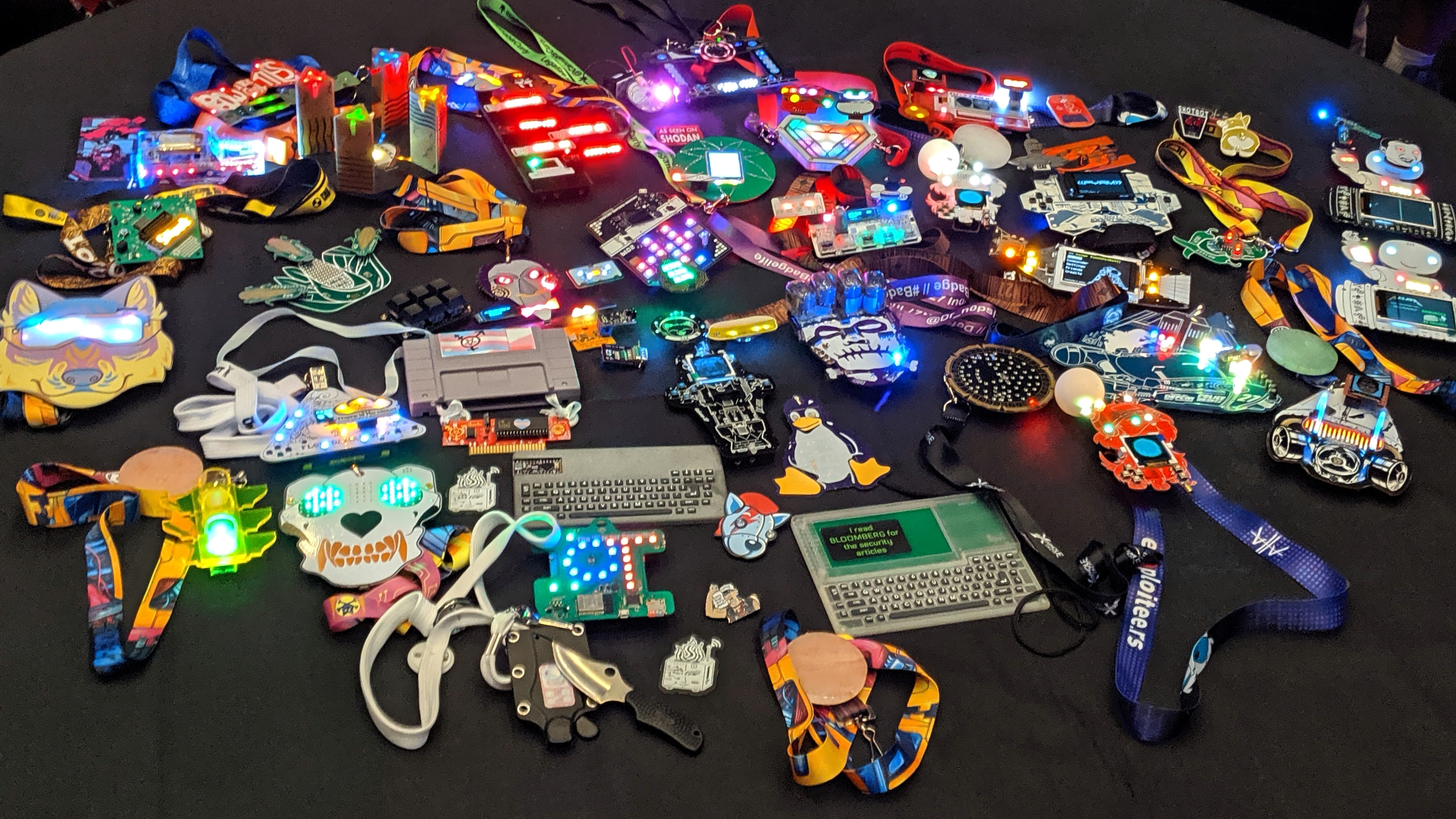 Pictorial Guide to the Unofficial Electronic Badges of DEF CON 27