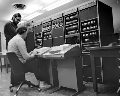 Ken Thompson and Dennis Ritchie at a PDP-11. Peter Hamer [CC BY-SA 2.0]