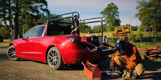 Converting A Tesla To A Pickup Truck