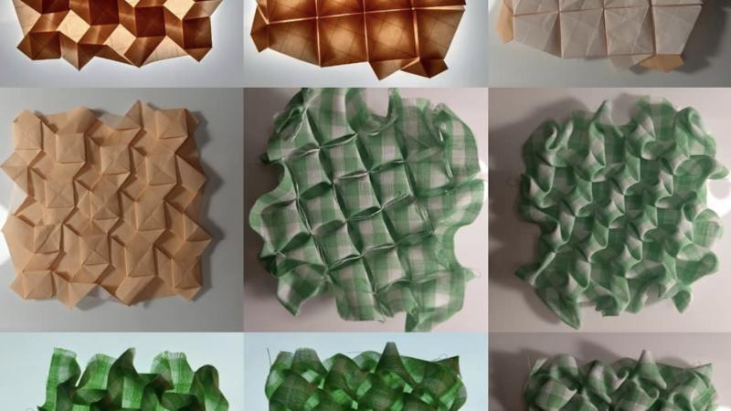 3D Puzzle diy,paper triangle, wall decoration geometric, pepakura ... | 450x800